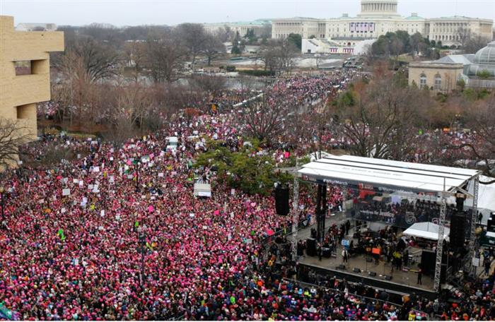 Records for crowd sizes for protests in January benefited from an incredibly warm winter.